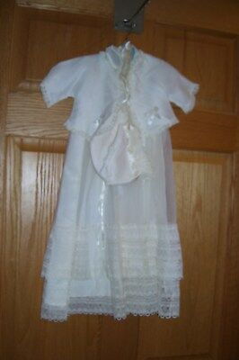 NEW OLD STOCK- Lovely 3pc Baby Christening Dress w/Jacket & Cap-CAROL JOY