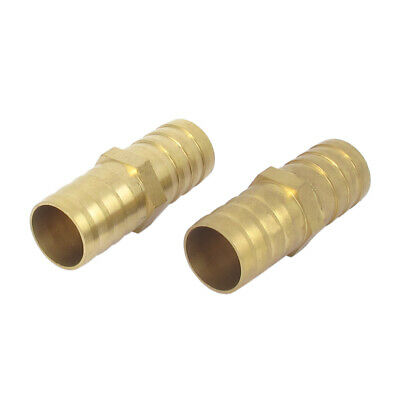 19mm Inner Dia Air Straight Hose Pipe Barb Coupler Connector Splicer 2pcs