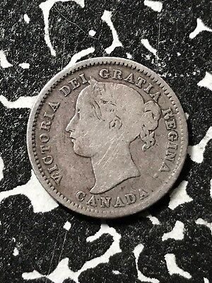 1858 Canada 10 Cents Lot#X2627 Silver!