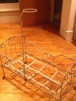 Vintage Victorian French Iron Frame Dolls Cot