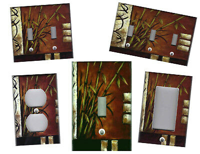 Bamboo With Asian Symbols Home Decor Decorative Light Switch