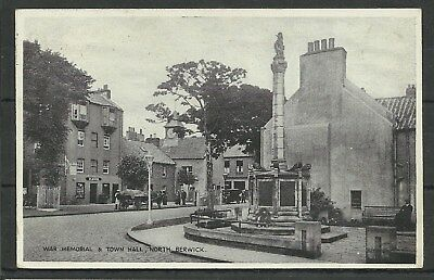 Postcard : North Berwick War Memorial & Town Hall posted PUC 1d red1929