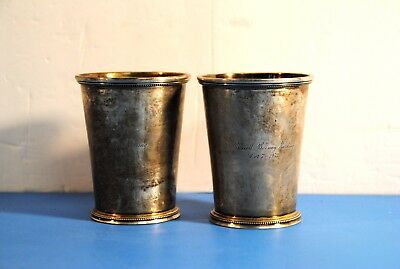 2 Sterling Silver Mint Julep Cups Patrick Henry 1776 Reproduction