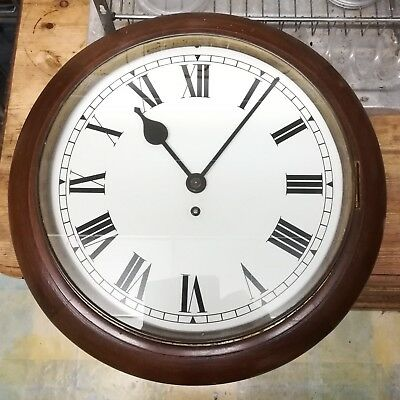 12 inch spring wound wall clock BP shell mex interest