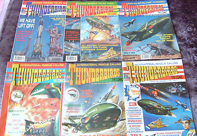GERRY ANDERSON THUNDERBIRDS Comics - Issue No 1 - 6 - Free gifts attached! 1991