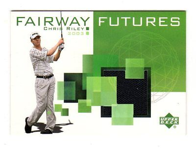 Chris Riley Pga 2003 Upper Deck Fairway Futures Memorabilia (Golf Shirt)