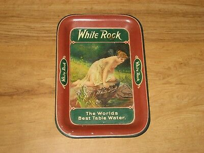 Vintage White Rock Table Water Tip Tray-Topless Woman