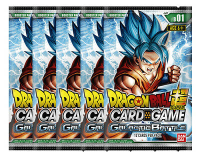 Dragon Ball Super TCG Galactic Battle Booster Pack Bundle of 5 New/Sealed