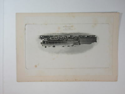 ABNC Archives c.1880s PROOF Train Vignette. Peru. Lima Locomotive Works. On Card