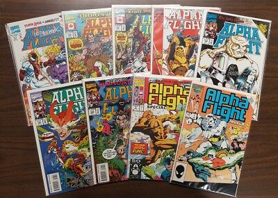 Alpha Flight 111 115 117 120 122 -124 Special 2 Annual 1 All Signed & Notarized