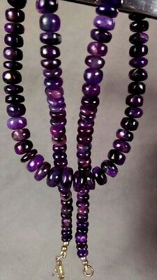 dkd/ 150.5cts NATURAL Rich Purple Sugilite Beads/ Necklace