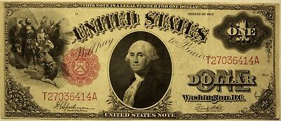 1 Dollar, Large Note, Series of 1917. Some Folds