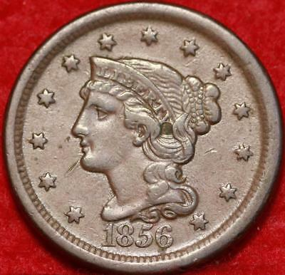 1856 Philadelphia Mint Copper Braided Hair Large Cent Free S/H