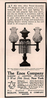 Ad Lot Of 7 1906-1908 Enos Co Lighting Fixtures