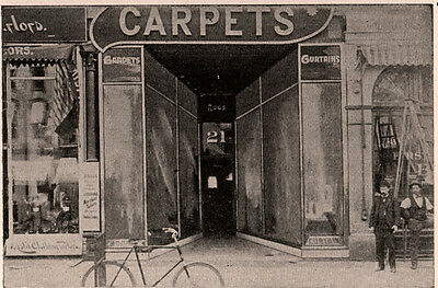 Ad Lot Of 2 1909-  1911  A Ads  Coulson Patent Store Front  Photo Men Bike M