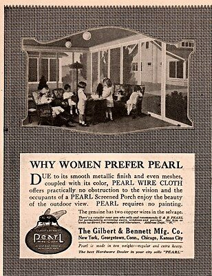 Ad Lot Of 2 1915 C Ads Gilbert Bennett Mfg Co Pearl Screen Wire Cloth