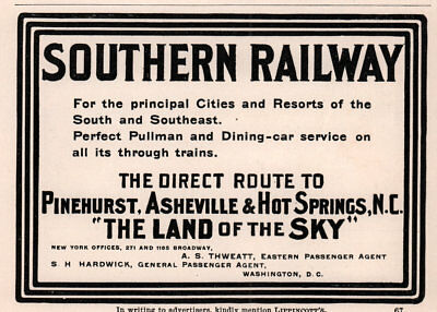 Ad Lot Of 2  1900 B Southern Railway Farms S East Land Development Asheville