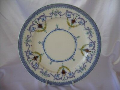 Antique Jones Mcduffee Stratton Royal Worcester Plate Blue White