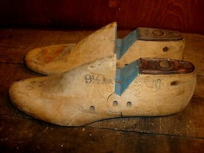 Vintage Wooden Cobblers Shoe Lasts Leather Workers Last Molds