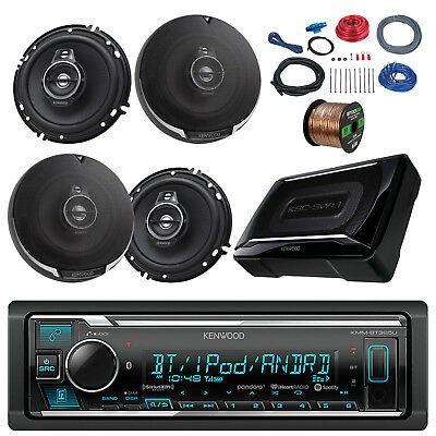 """Bluetooth Kenwood Radio, 6.5"""" Speakers and Wiring, 150 Subwoofer and Install Kit"""