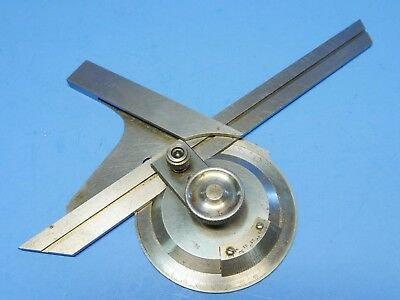 "UNIVERSAL BEVEL PROTRACTOR with 8"" Blade - machinist tools"