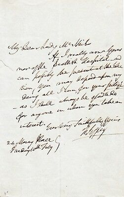 Lord FRANCIS JEFFREY Letter to Lady McNair. Scottish Judge, literary critic,