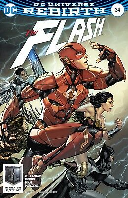 FLASH #34, JUSTICE LEAGUE VARIANT, New, First Print, DC REBIRTH (2017)