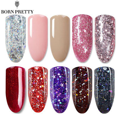 BORN PRETTY Christmas UV LED Gel Polish Nail Soak Off Glitter Party 6ml/10ml