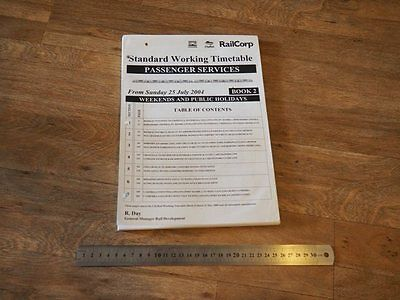 RailCorp 2004 Working Passenger Timetable Sydney incomplete NSWGR