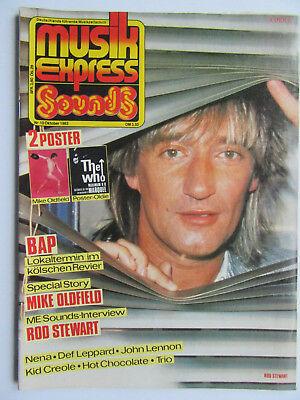 Musik Express Sounds 10/1983, Mike Oldfield, BAP, Rod Stewart, Nena, Kid Creole