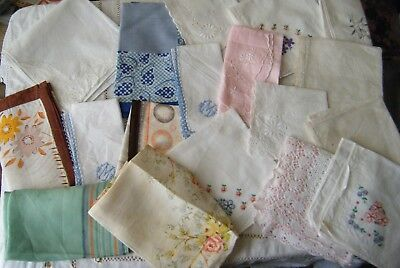 Lot Of 18 Vintage Ladies Hankerchiefs, Hankies