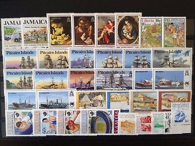 BRITISH COMMONWEALTH FRESH LOT OF STAMPS, XF MINT NEVER HINGED, TOPICALS Brc48