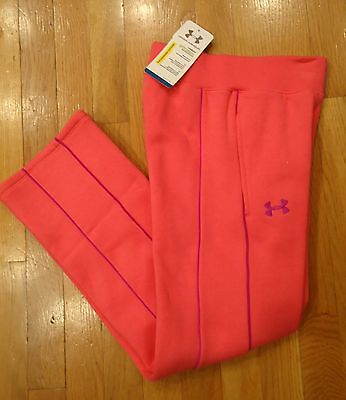 Nwt Under Armour Storm Sweatpants Pants Pink Girls Youth Small Medium Large
