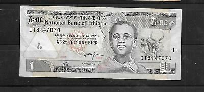 ETHIOPIA #46e 2000 VERY good USED OLD BIRR BANKNOTE PAPER MONEY CURRENCY  NOTE