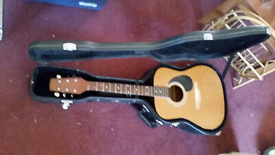 Prince Acoustic Guitar deep tone  with hard case as in pictures,