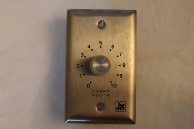 J W Davis WW-1S Single Gang L Pad Volume Control Steel Face Clear Knob 8 Ohms