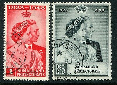 Somaliland 1948 Silver Wedding SG 119-120 used (cat. £7.10)