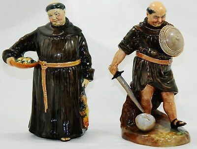 """Limited Royal Doulton Figurines The Jovial Monk  & Friar Tuck 8"""" H. no reserve"""