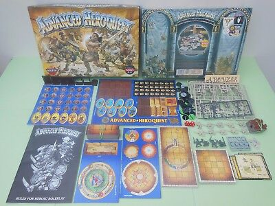Advanced Heroquest Game Complete Games Workshop Unpainted Part Unpunched Nr Mint