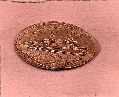 USS New York 911 Lest We Forget Elongated Penney