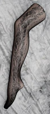 100 Black Patterned Fishnet Tights Loose One Size Wholesale Hosiery Lingerie Lot