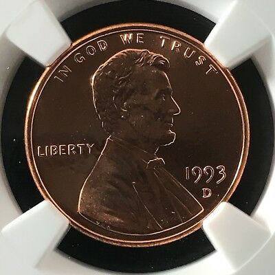 1993-D 1C RD Lincoln Memorial One Cent NGC MS69RD                  4502095-004c