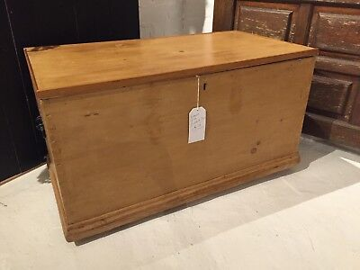 Antique Victorian Pine Blanket Box, Coffee Table
