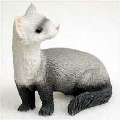 Ferret Animal Tiny One Miniature Small Hand Painted Figurine
