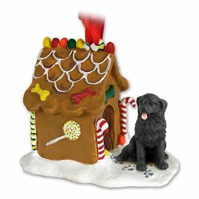 Newfoundland Dog Ginger Bread House Christmas ORNAMENT
