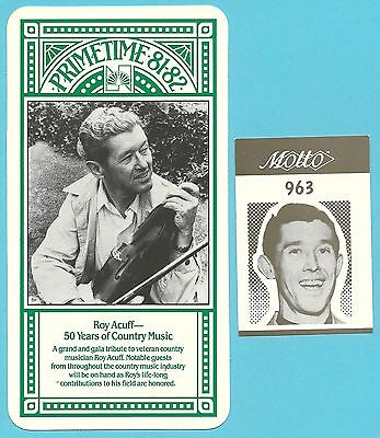 Roy Acuff 50 years of Country Music Fab Card Collection