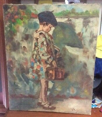Vincenzo Irolli (1860-1949) Antico Dipinto Quadro 800 900 Antique Old Painting
