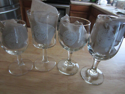 Riverbank Cheese Wine Exposition GLASS 1ST 1977 2ND 1978 3RD 1979 4TH 1980 LOT 4