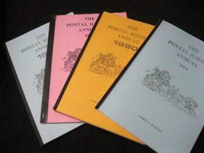 4 ISSUES OF THE POSTAL HISTORY ANNUAL by JAMES A MACKAY 1979 1988 1989 & 1990