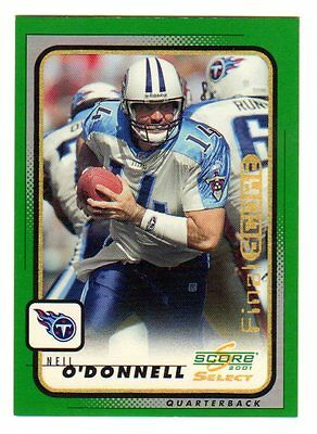 Neil O`donnell Nfl 2001 Select Final Score #09 /13 (Steelers,jets,bengals,titans